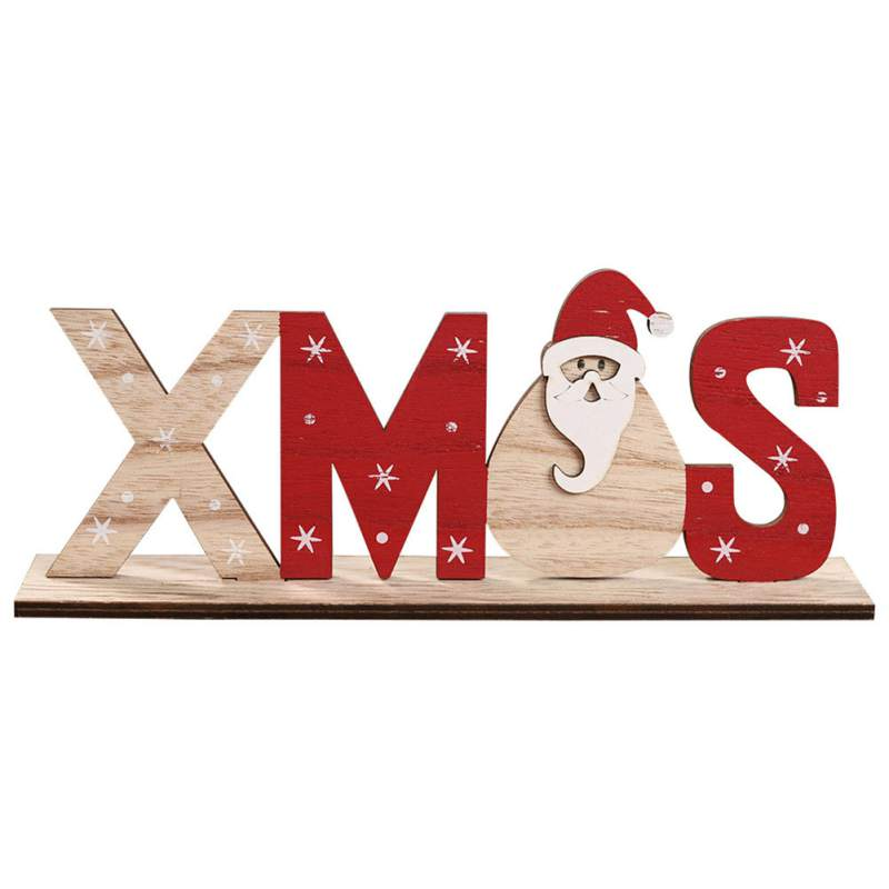 Details About Christmas Decorations Wooden Letters Desktop Ornaments Simple Table Decor Sign